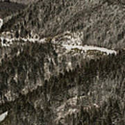 Blue Ridge Parkway With Snow - Aerial Photo Poster