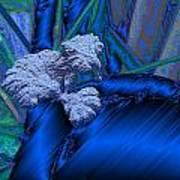Blue Satin And Mushroom Poster
