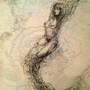 Blue Sea Nymph Poster