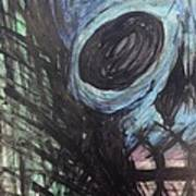 Blue Skull Poster