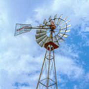 Blue Sky Aermotor Windmill Poster
