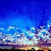 Blue Sky Shine Poster