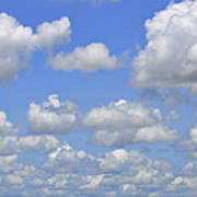Blue Sky With Cumulus Clouds Day Usa Poster