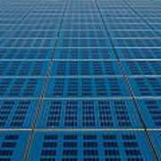 Blue Solar Panel Collector View Poster