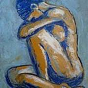 Blue Soul - Female Nude Poster