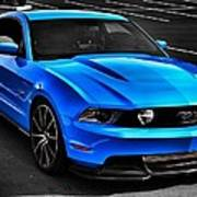 Blue Stang Poster