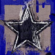 Blue Star Abstract Poster