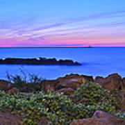 Blue Sunset Poster by Frozen in Time Fine Art Photography