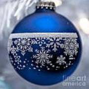Blue Tree Ornament Poster