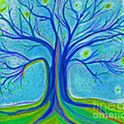 Blue Tree Sky By Jrr Poster