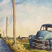 Blue Truck North Fork Poster