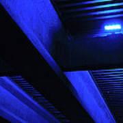 Blue Underpass Poster