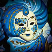 Blue Venetian Mask Poster