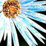 Blue Vexel Flower Poster