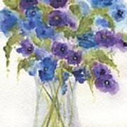 Blue Violet Flower Vase Poster