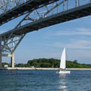 Blue Water Bridge Sail Poster
