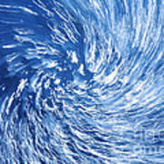 Blue Water Twister Abstract Poster