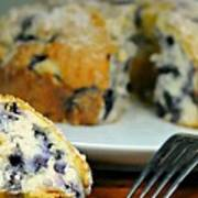 Blueberry Bundt Cake Poster