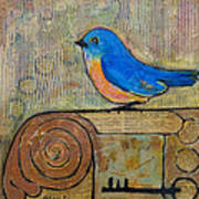 Bluebird Art - Knowledge Is Key Poster