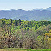 Blueridge Mountains In The Spring Poster