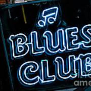 Blues Club On Bourbon Street Nola  Poster