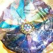 Blues Mandala Bowl Poster