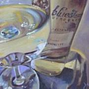 Bluestone Traminette And Glass Poster