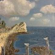 Bluff At Laguna Madre Poster