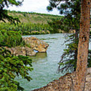 Bluff Over The River In Five Finger Rapids Recreation Site Along Klondike Hwy-yt  Poster