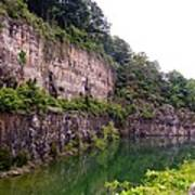 Bluffs Near Marina Norris Dam State Park Poster