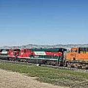 Bnsf 7199 Consist Poster