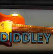 Bo Diddley's Guitar Poster