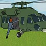 Boarding A Helicopter Poster