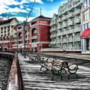 Boardwalk Early Morning Poster