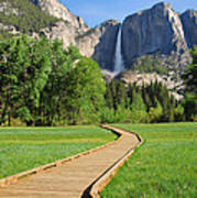 Boardwalk To Yosemite Falls  Poster