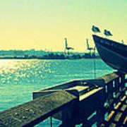 Boat At Alki Beach Poster