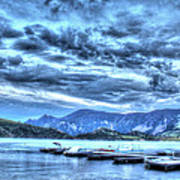 Boat Dock At Holter Lake Poster