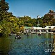 Boat House Central Park New York Poster by Amy Cicconi