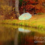 Boat  In Autumn In Wilmington Poster
