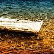 Boat In Dangerous Waters Poster