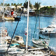 Boat - King's Wharf Bermuda Poster