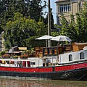 Boat On Canal Du Midi Homps France Dsc01717  Poster