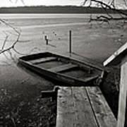 Boat In Ice - Lake Wingra - Madison - Wi Poster