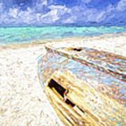 Boat Wreck Of Aruba Poster