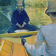 Boaters On The Yerres Poster