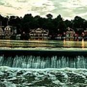 Boathouse Row And Fairmount Dam Poster