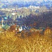 Boathouse Row Impasto Poster