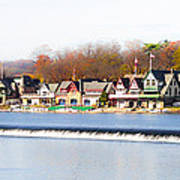 Boathouse Row In Autumn Poster