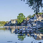 Boathouse Row In September Poster