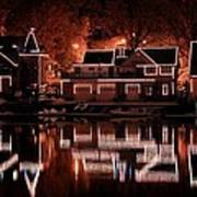 Boathouse Row Reflection Poster